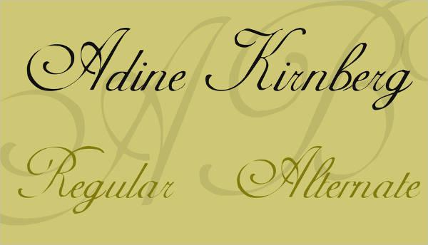 tattoo thin cursive font