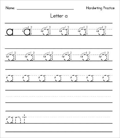 printable handwriting worksheets