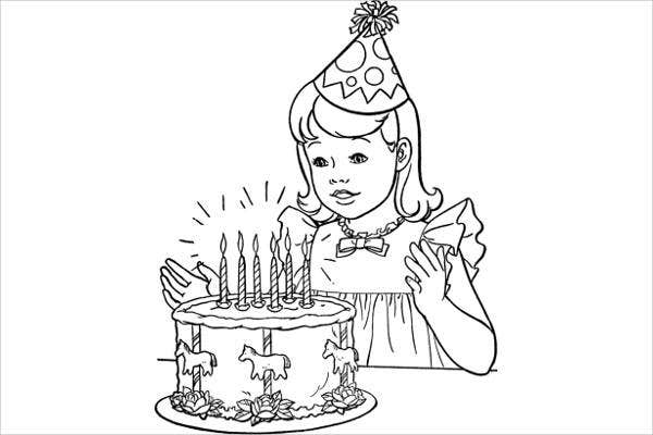childrens birthday coloring page - Children Coloring Pages