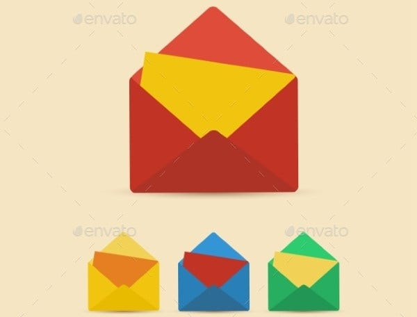 Retro Letter Envelope