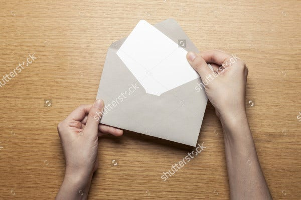 Abstract Letter Envelope