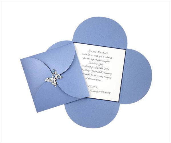 butterfly wrap invitation template