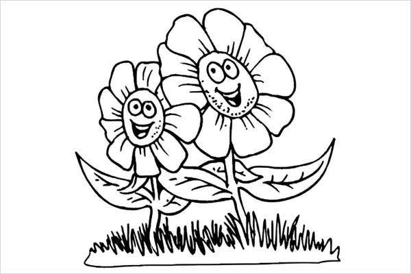 Children's Flower Coloring Pages