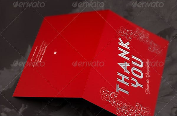 holiday thank you card template