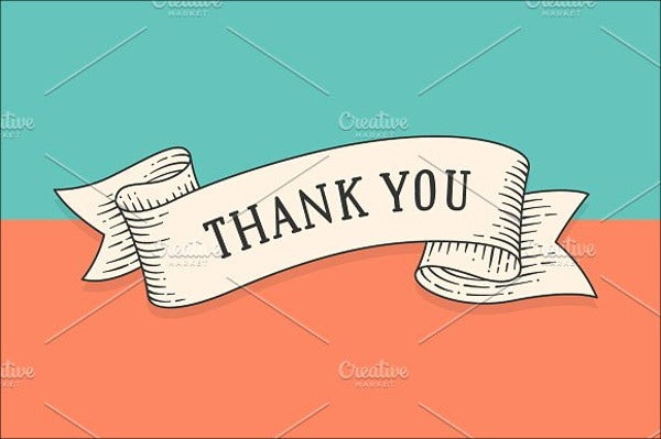 printable blank thank you card template