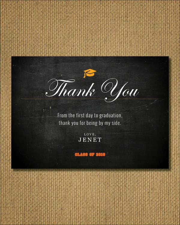 Printable graduation Thank You Card Template