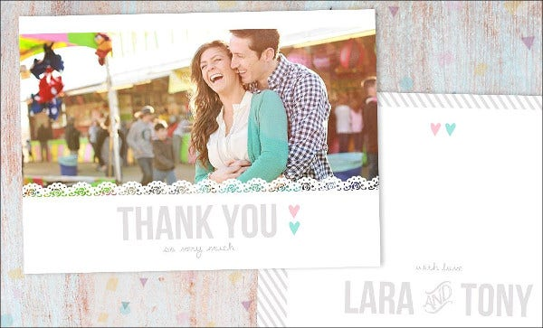 printable wedding thank you card template