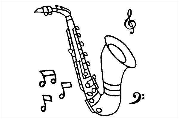 childrens music coloring pages