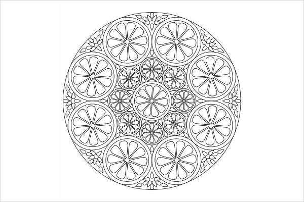 childrens mandala coloring pages
