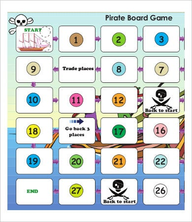 picture relating to Printable Monopoly Board Pdf referred to as Sport Board Template - 9+ Totally free Term, PDF Information Downlaod