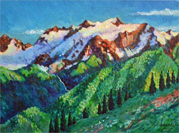 landscape-oil-pastel-art