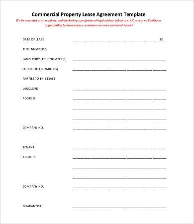 9+ Simple Commercial Lease Agreement Templates