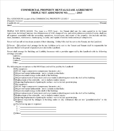 Commercial Lease Agreement Template  Free Word Pdf Documents