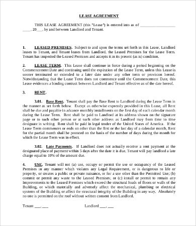 Superior Commercial Tenant Lease Agreement Template Pertaining To Commercial Tenancy Agreement Template