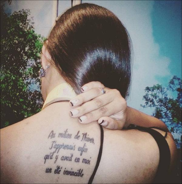 Literary Back Tattoo