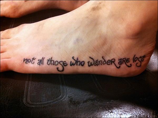 Literary Foot Tattoo