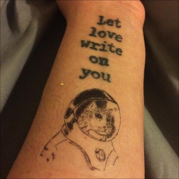 Literary Tattoo on Wrist