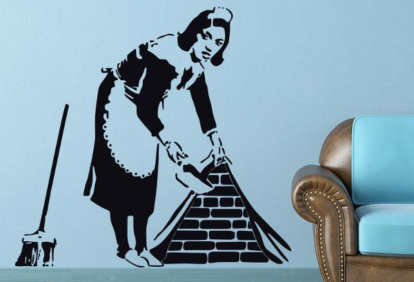 Stencil Artwork of Maid