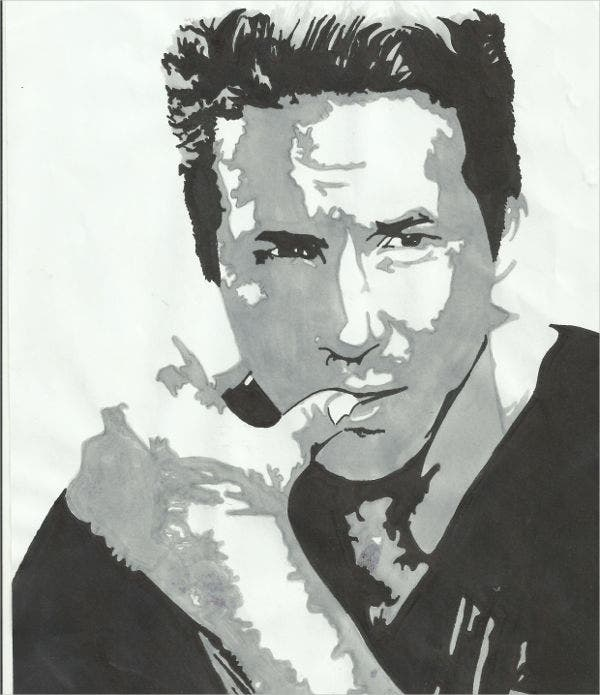 Stencil Art of Ryan Reynolds