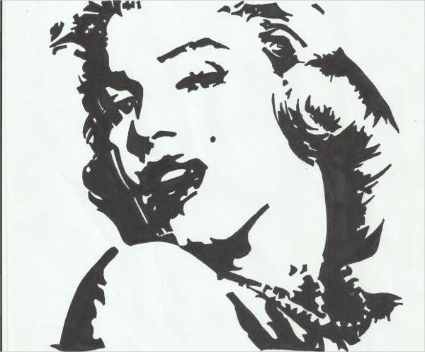 Stencil Art of Marilyn Monroe