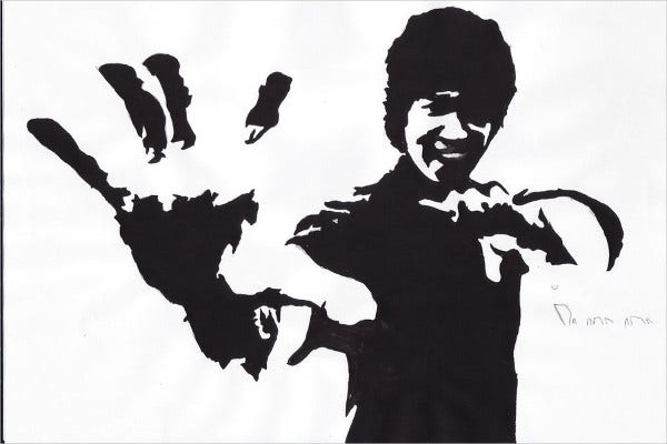 Stencil Art of Bruce Lee