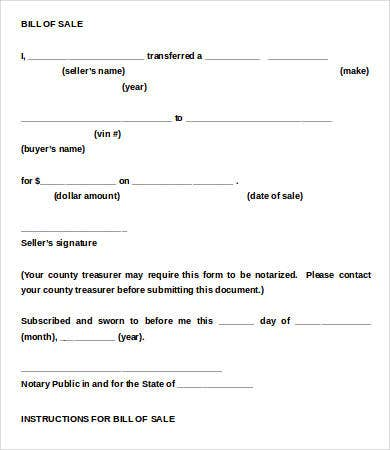 motorcycle bill of sale template 9 free word pdf documents