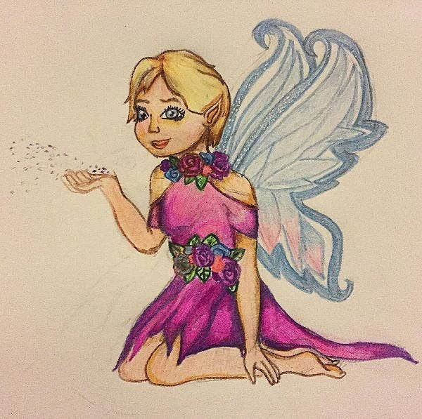 fairy wings drawing