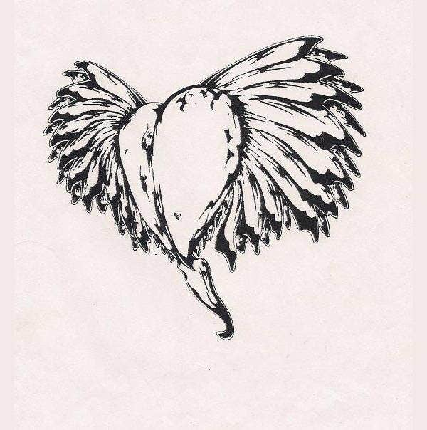 heart-with-wings-drawing