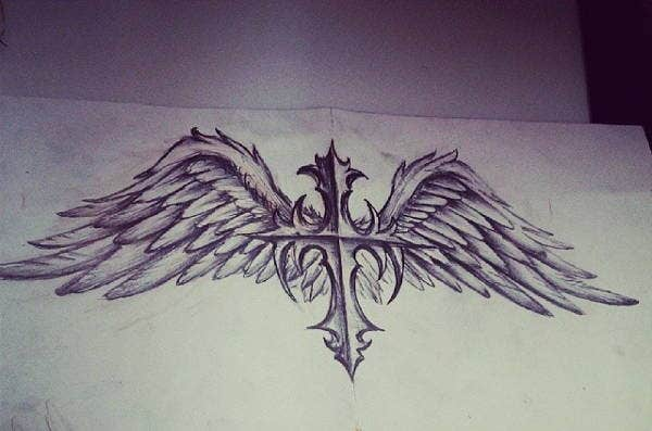 cross-with-wings-drawing