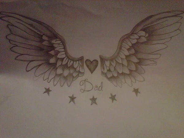 wings tattoo drawing