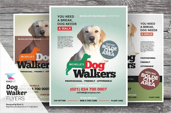 Dog walking flyer template 14 free psd vector ai eps for Dog walking flyer template free