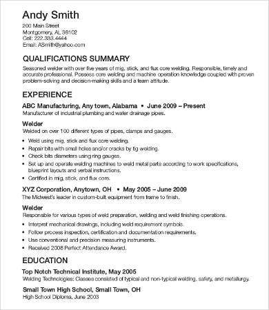 professional resume layout example