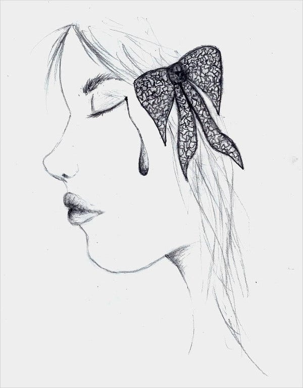 hair bow drawing