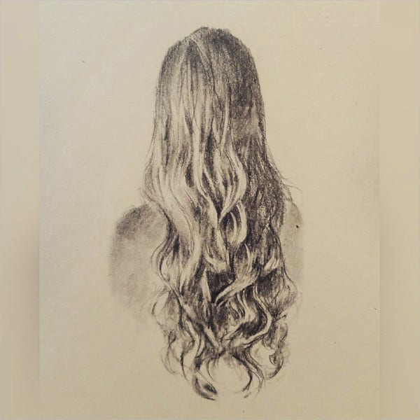 wavy hair drawing