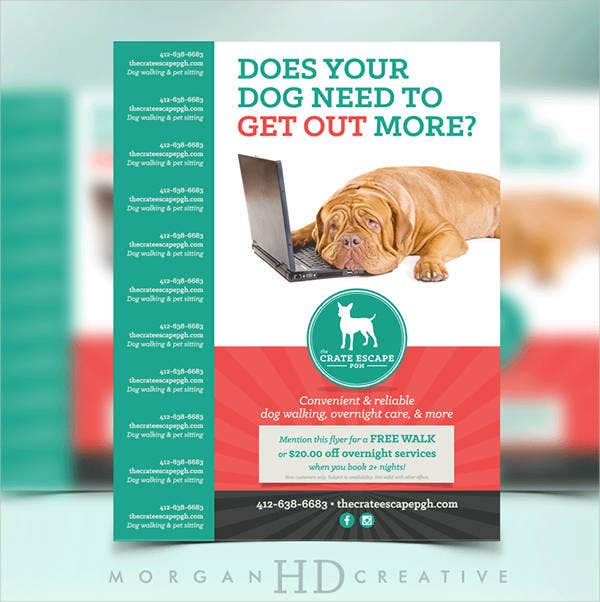 Dog walking flyer template 14 free psd vector ai eps format dog walking flyer template maxwellsz