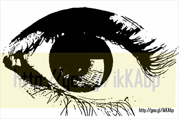 Graffiti Stencil Eyes Printable Template