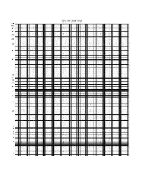 Printable Graph Paper Templates   Free  Format Download