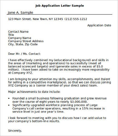 Sample Job Application - 7+Free Word, PDF Documents Download ...