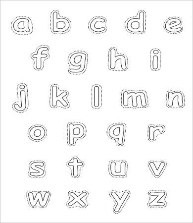 graphic about Free Printable Alphabet Stencils Templates called Absolutely free Printable Alphabet Letter -9+ Totally free PDF, JPEG Structure