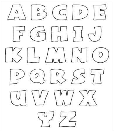 graphic about Free Printable Alphabet Stencils Templates named Totally free Printable Alphabet Letter -9+ Totally free PDF, JPEG Structure