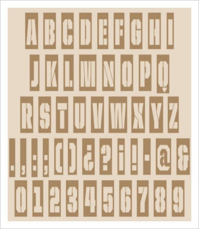 free printable alphabet stencil letters