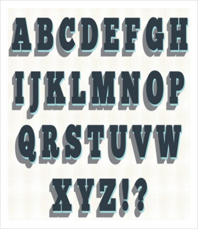 free printable bold alphabet letters