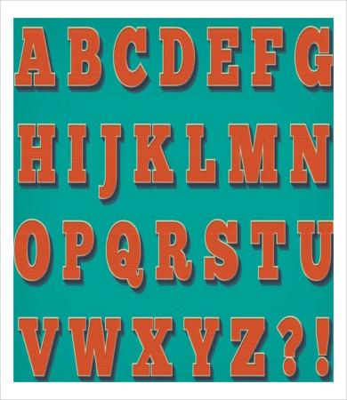 free printable vintage alphabet letters