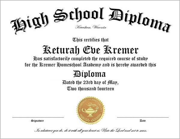 High School Diploma Template