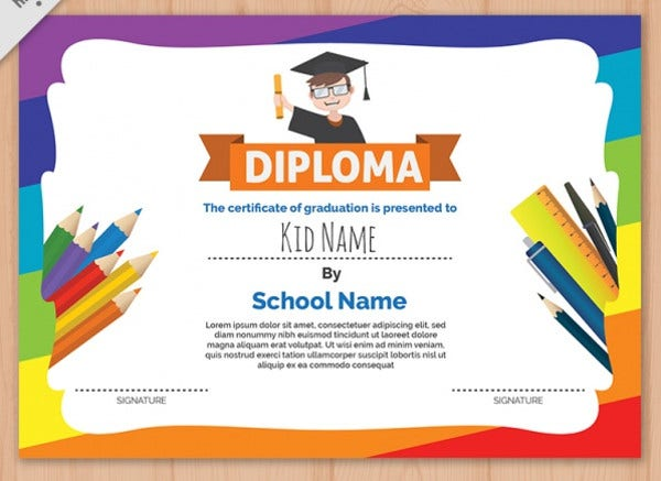 Colorful Diploma Template