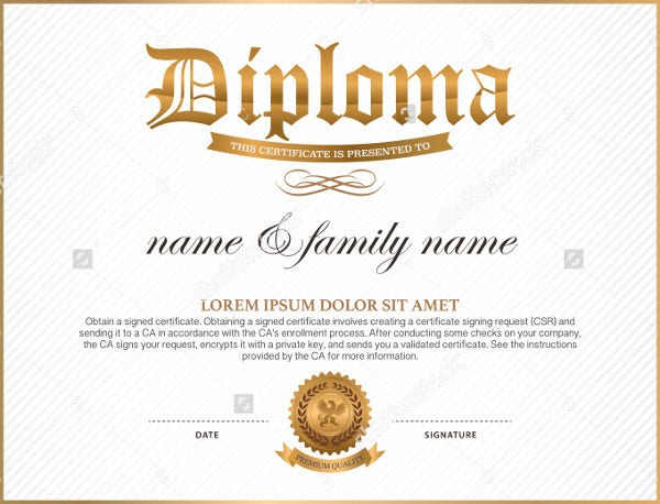 9+ Diploma Templates - Free PSD, AI, Vector, EPS Format Download ...