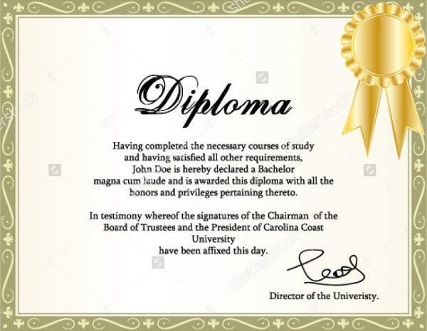 9 diploma templates free psd ai vector eps format download