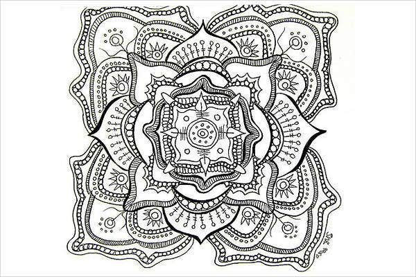 Free Printable Abstract Coloring Page for Adults