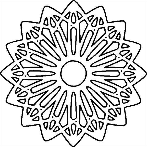 free printable geometric coloring page for adults