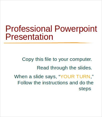 professional powerpoint template 7 free ppt documents download